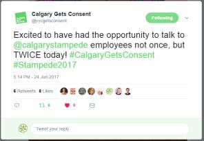 Stampede tweet June 2017